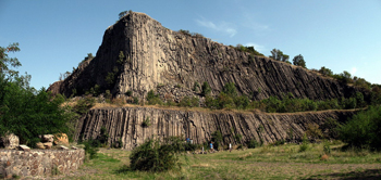 Photo: Columnar basalt, Hegyes-tű protected geological site (HU)