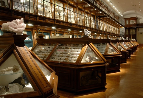 Historical Hall of the Eötvös University Mineralogical Collection
